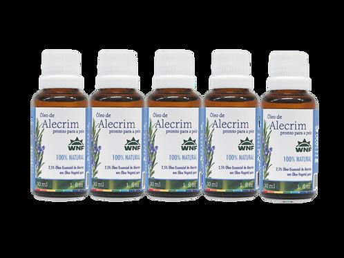 Kit c/ 5un Óleo de Alecrim pronto para uso direto na pele 30ml - WNF