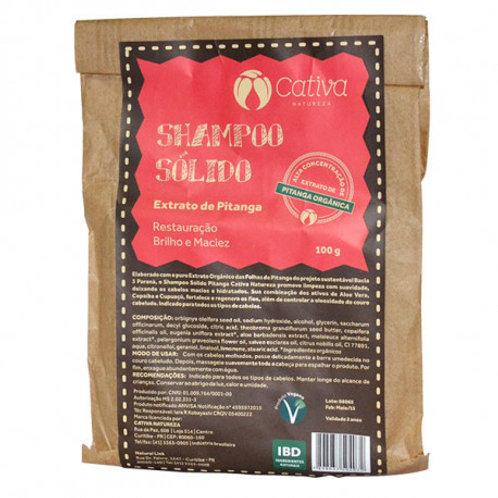Shampoo Sólido de Pitanga Orgânico Vegano 100g - Cativa