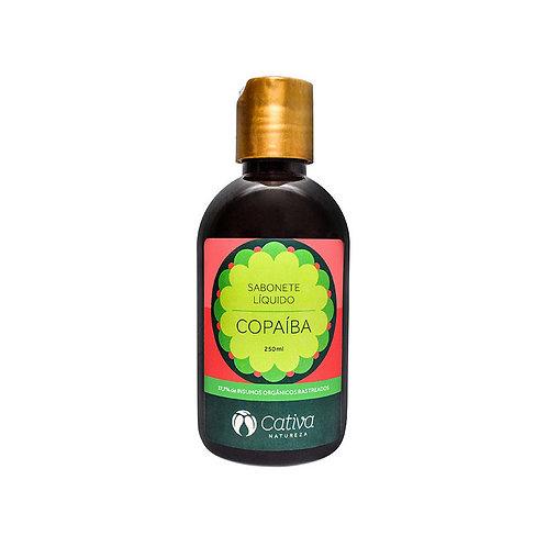 Sabonete Liquido Copaíba Pele Oleosa Orgânico Vegano 250ml - Cativa