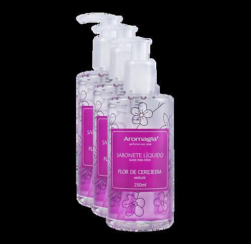 Kit 3 un - Sabonete Líquido para as Mãos Aromagia Flor de Cerejeira 250