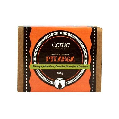 Sabonete Vegetal de Pitanga em Barra Orgânico Vegano 100g - Cativa