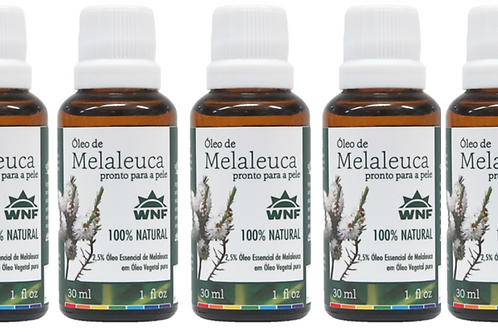 Kit c/ 5un Óleo de Melaleuca pronto para uso direto na pele 30ml - WNF