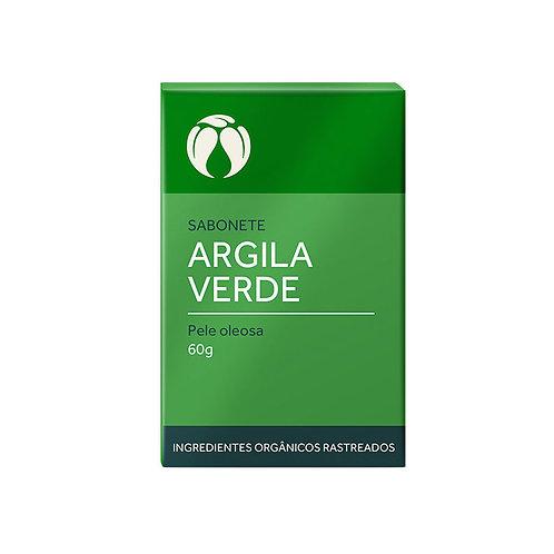 Sabonete Argila Verde Pele Oleosa Orgânico Vegano 60g - Cativa