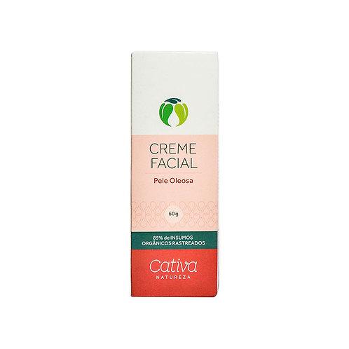 Creme Facial Pele Oleosa Orgânico Vegano 60g - Cativa