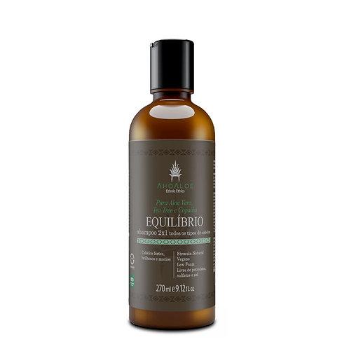 Shampoo 2 em 1 Natural Vegano EQUILÍBRIO Limpa e Condiciona 270ml - AhoAloe