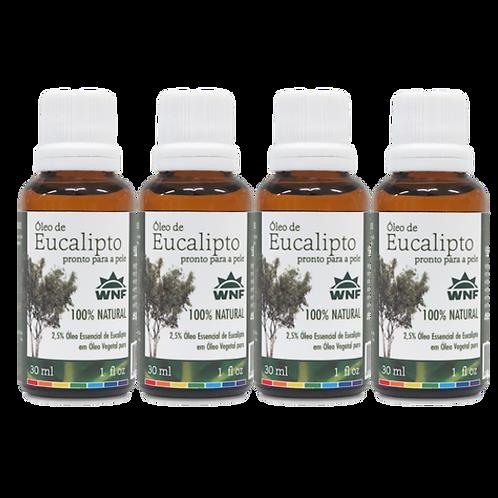 Kit c/ 4un Óleo de Eucalipto pronto para uso direto na pele 30ml - WNF