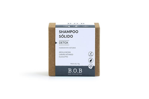Shampoo Sólido Detox Vegano 80g - BOB