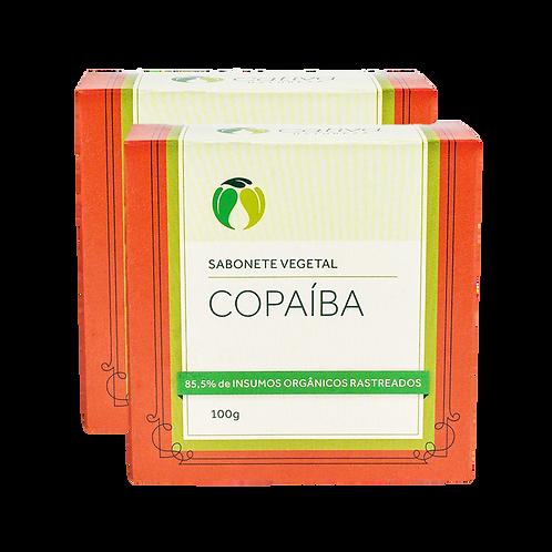 Kit 2 un - Sabonete Vegetal de Copaíba em Barra Orgânico Vegano 100g - Cativa