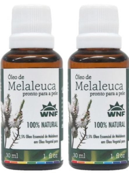 Kit c/ 2un Óleo de Melaleuca pronto para uso direto na pele 30ml - WNF