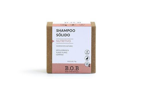 Shampoo Sólido Nutritivo Vegano 80g - BOB