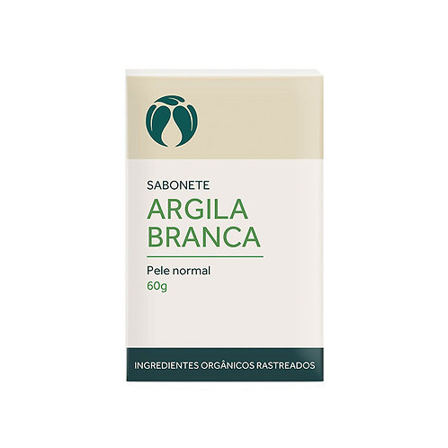 Sabonete Argila Branca Pele Normal Orgânico Vegano 60g - Cativa