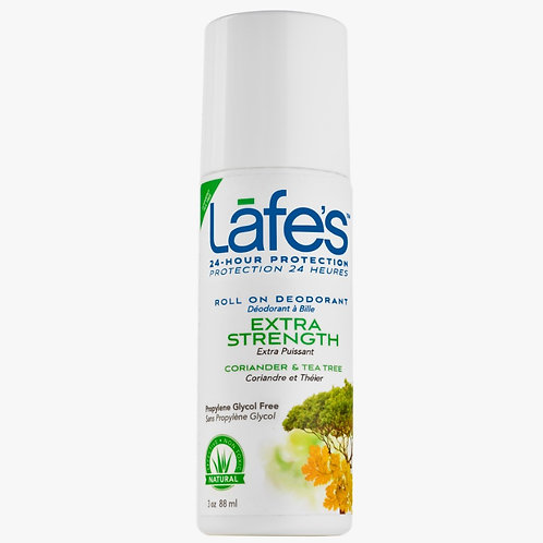 Desodorante Natural Roll-On Extra Strength 88ml - Lafe's