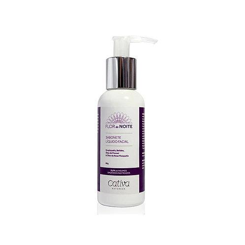 Sabonete Liquido Facial Flor da Noite Orgânico Vegano 80g - Cativa