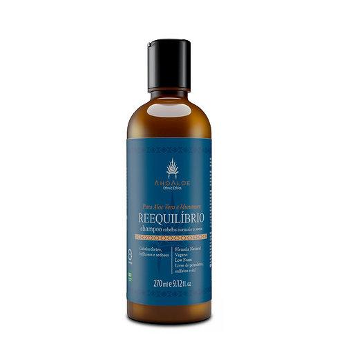 Shampoo Natural Vegano REEQUILIBRIO Cabelos Normais e Secos 270ml - AhoAloe