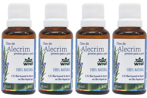 Kit c/ 4un Óleo de Alecrim pronto para uso direto na pele 30ml - WNF