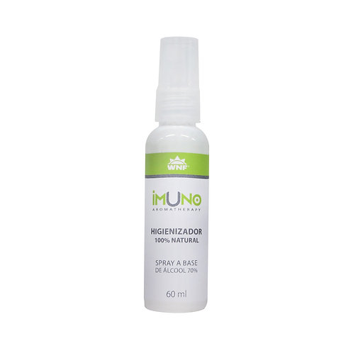 Imuno Aromatherapy Spray Higienizador Natural Álcool 70% 60ml - WNF