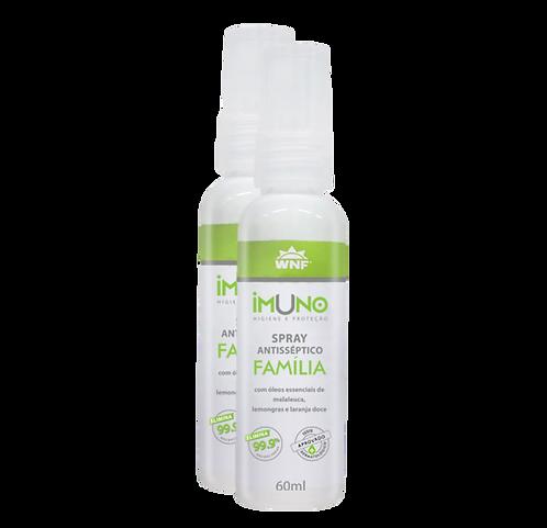 Kit 2 un. Imuno Spray Antisséptico Natural Família 60ml - WNF