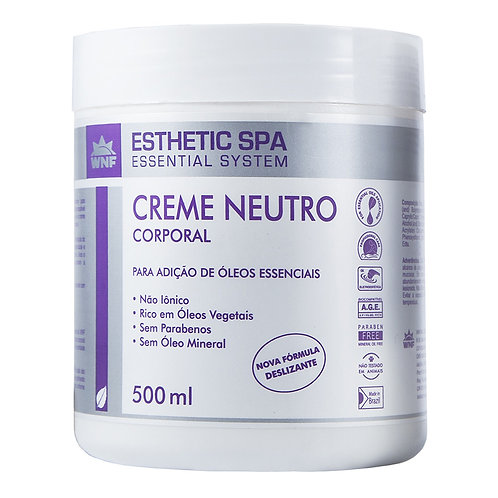 Creme Neutro Corporal Base para Massagem Esthetic Spa 500g - WNF