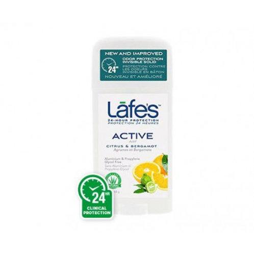 Desodorante Natural Twist-Stick Active Citrus Bergamota 63g - Lafe's