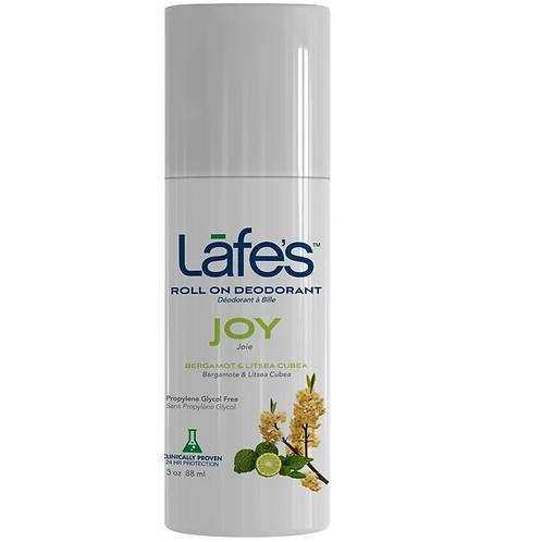 Desodorante Natural Roll On Joy 88ml (Bergamota e Litsea Cubea) - Lafe's