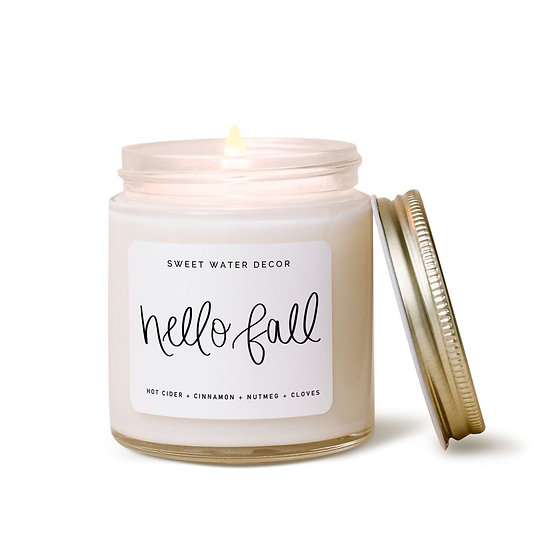 """""""Hello Fall"""" Candle"""