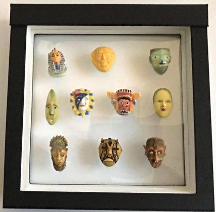 Collection de 10 fèves Les Masques du Monde