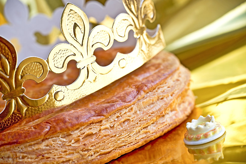 Epiphany cake or galette des rois in Fre