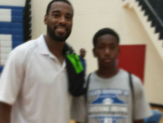 Trent Jackson impresses Calvin Johnson, Jr. at his Annual Receiver Football Camp
