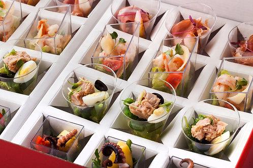 Сет из 4-х видов салатов в итальянском стиле