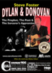Steve Foster flyer for dylan & Donovan Concert at Edinburgh Fringe