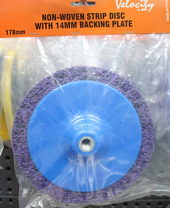 Volocity Non Woven Strip Disc 14mm Backing Plate. 178mm
