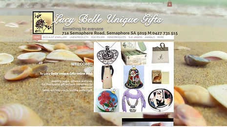 Lucy Belle Unique Gifts website
