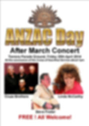 Anzac Day after March Concert