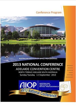 AIOP Conference Program book