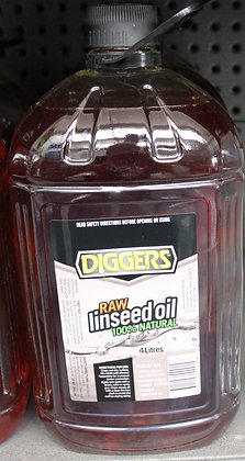 Diggers Raw Linseed Oil 4Lt