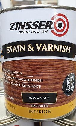 Zinsser Stain & Varnish Walnut/ Dark Walnut 1Lt