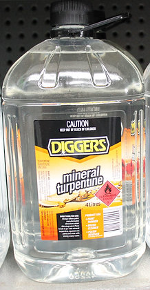 Diggers Mineral Turpentine 4Lt