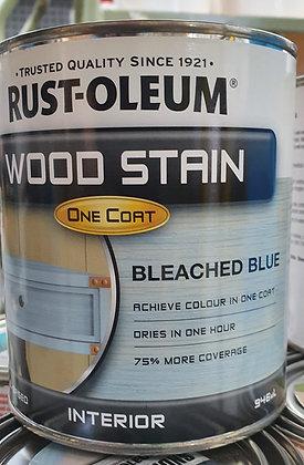 Rust-Oleum Wood Stain 1Lt Bleached Blue