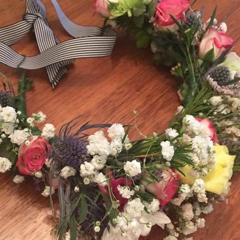 Floral wreath making workshop