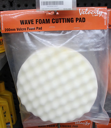 White pad for applying cutting compounds