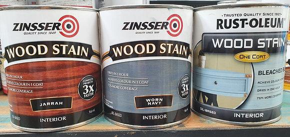 Zinsser Interior Wood Stain 1Lt Worn Navy