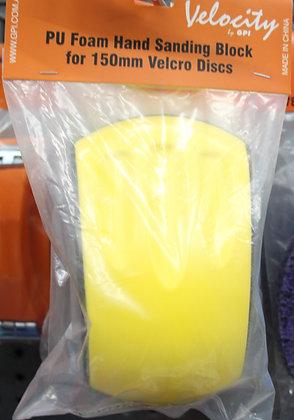 Velocity Foam Hand Sanding Block for 150mm Valcro Discs