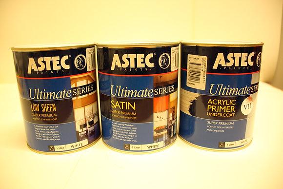 Astec Ultimate Series.Interior. Low Sheen, Satin 1Lt (excluding undercoat)