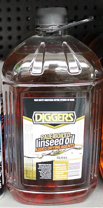 Diggers Pale Boiled Linseed Oil 4Lt