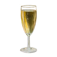 a_glass_of_champagne_on_a_transparent_ba