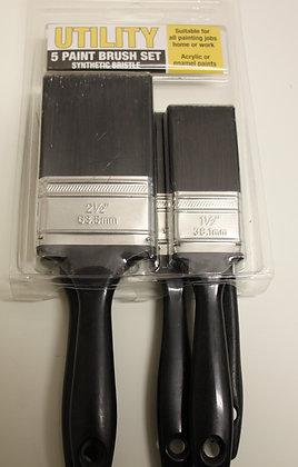 Uni-Pro 5 Pack Utility Synthetic Brushes