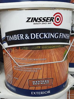 Zinsser  Timber & Decking finish Western Red 4Lt