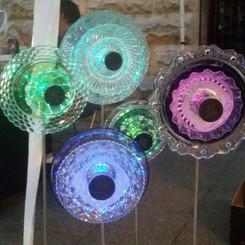Solar Glass garden lights