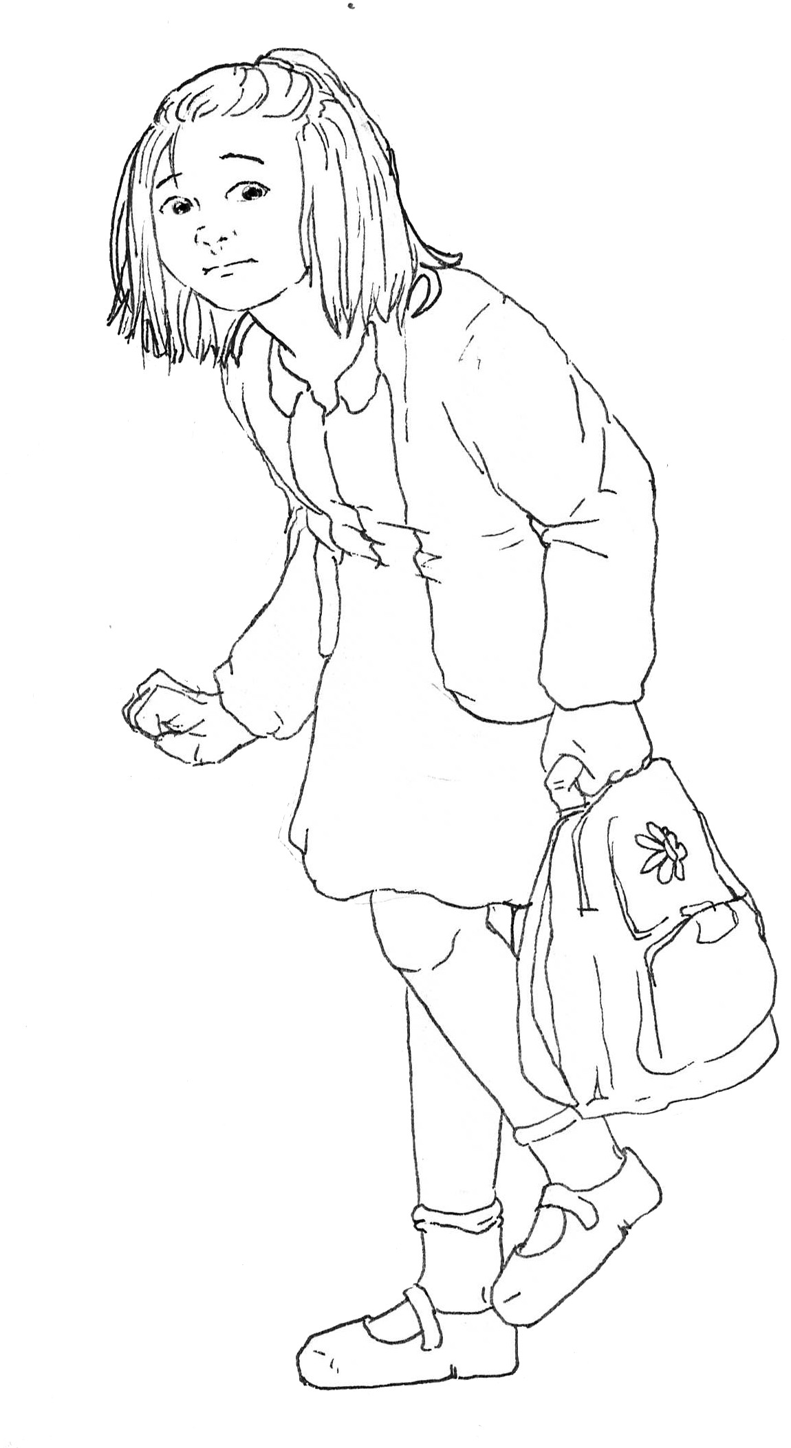 Elody in school uniform
