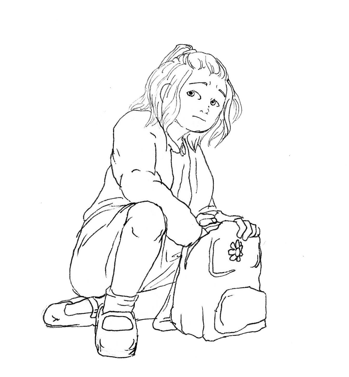 Elody and her bag